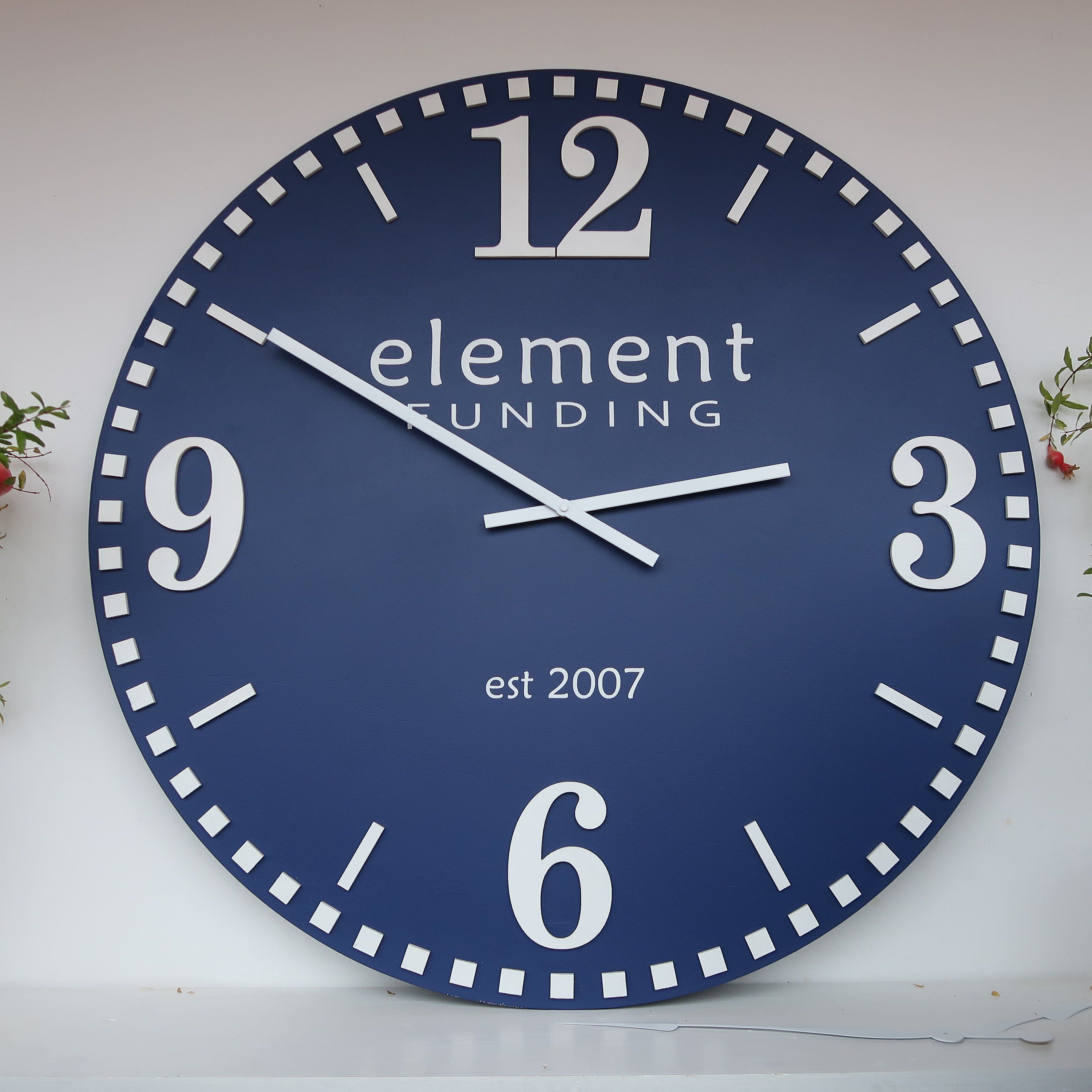 """33""""/37"""" Oversized Wall Clock, Large Wall Clock, Colored"""