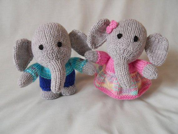 Hand knitted elephants elephant twins baby gift by littledazzler hand knitted elephants elephant twins baby gift by littledazzler negle Gallery