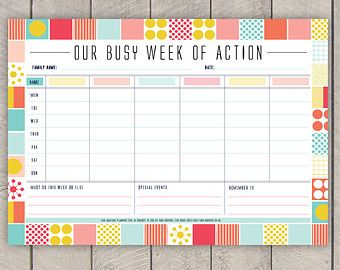 Weekly Familyplanner Template  Google Zoeken  For The Family