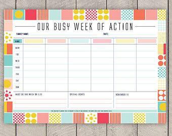 photo regarding Weekly Family Planner titled Weekly loved ones planner template - hpcr.tk