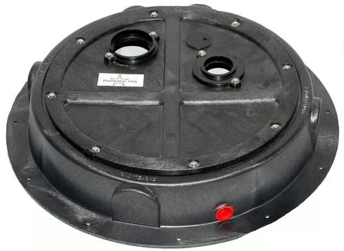 Solved My Radon Problem The Original Radon Sump Dome At Menards Radon Radon Gas Sump