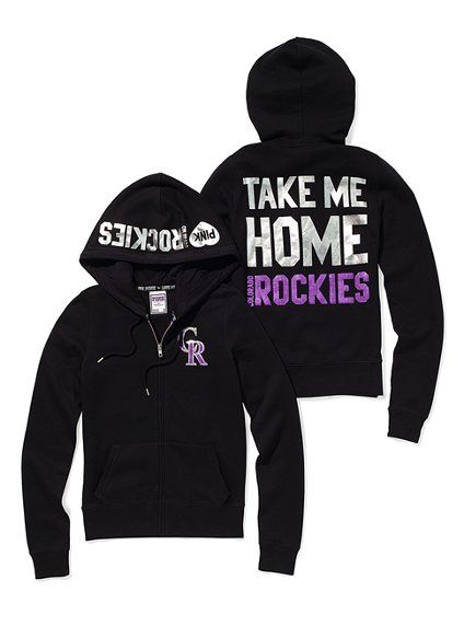 37bdfa3a3df0c Colorado Rockies Bling Zip Hoodie by Victoria's Secret PINK - One of ...
