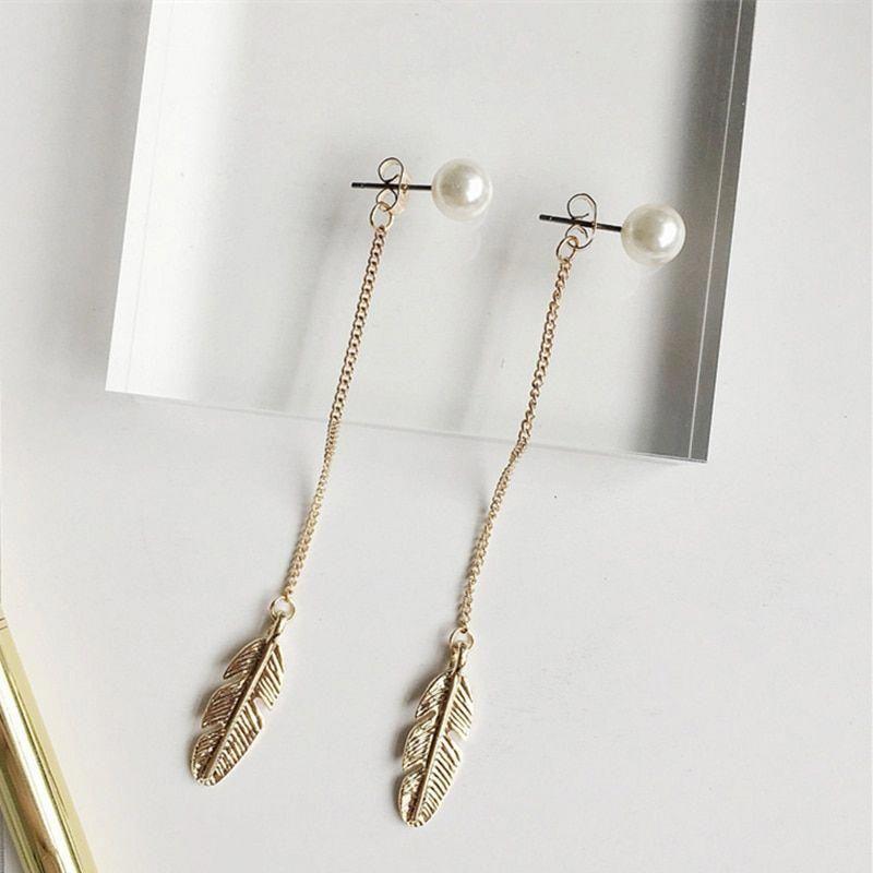 Beaded earrings Kpop Fashion Jewellery Korean Earrings Jewelry Korean Fashion Pearl Earrings Ulzzang Earrings Gold Earrings