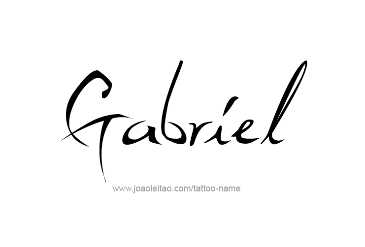 Gabriel Angel Name Tattoo Designs Name Tattoos Name Tattoo Tattoo Designs