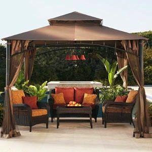 Beauty Outdoor Patio Gazebo Interior Design Backyard Gazebo
