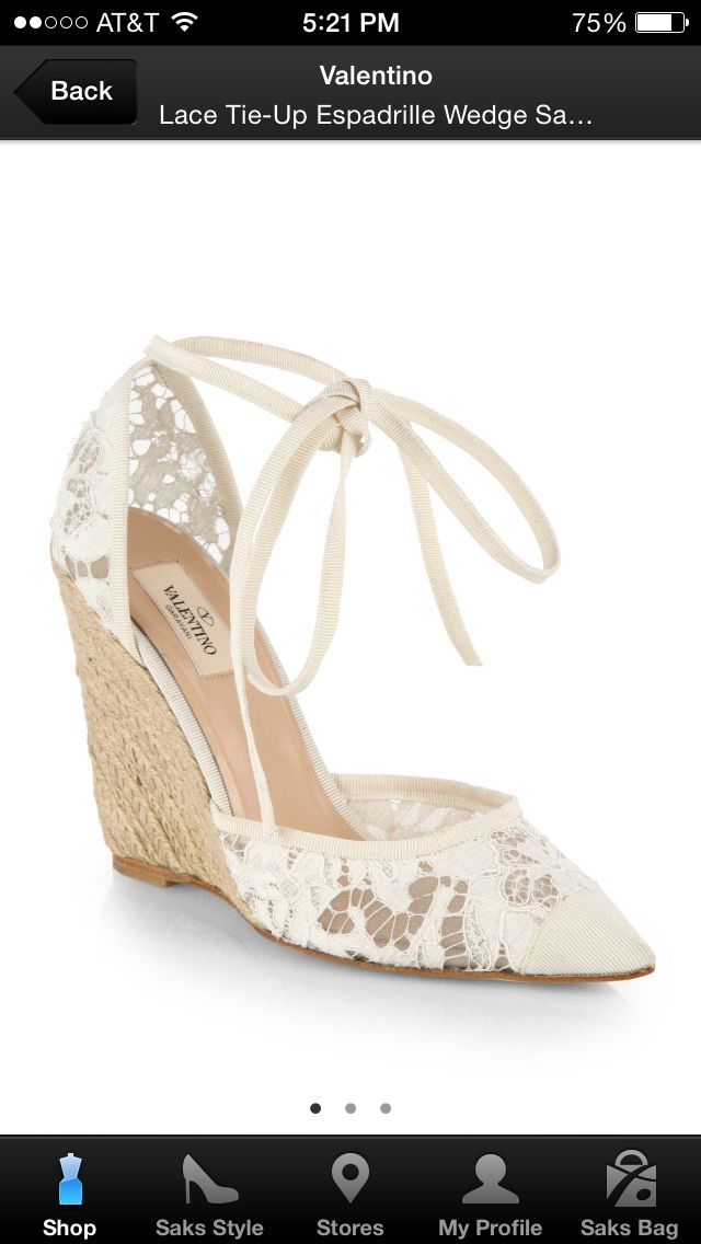 a4e3a4a34 Valentino crocheted lace espadrilles | Wedding Shoe Obsessions ...