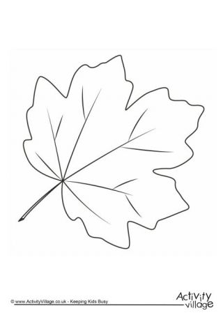 Autumn Fall Leaves Coloring Pages