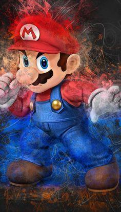 Papeis De Parede Do Mario Para Celular Super Mario Art Super Mario World Mario Art