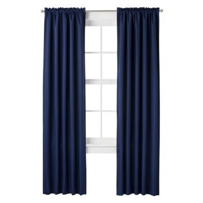Room Essentials 174 Thermal Window Navy Curtain Panels 19
