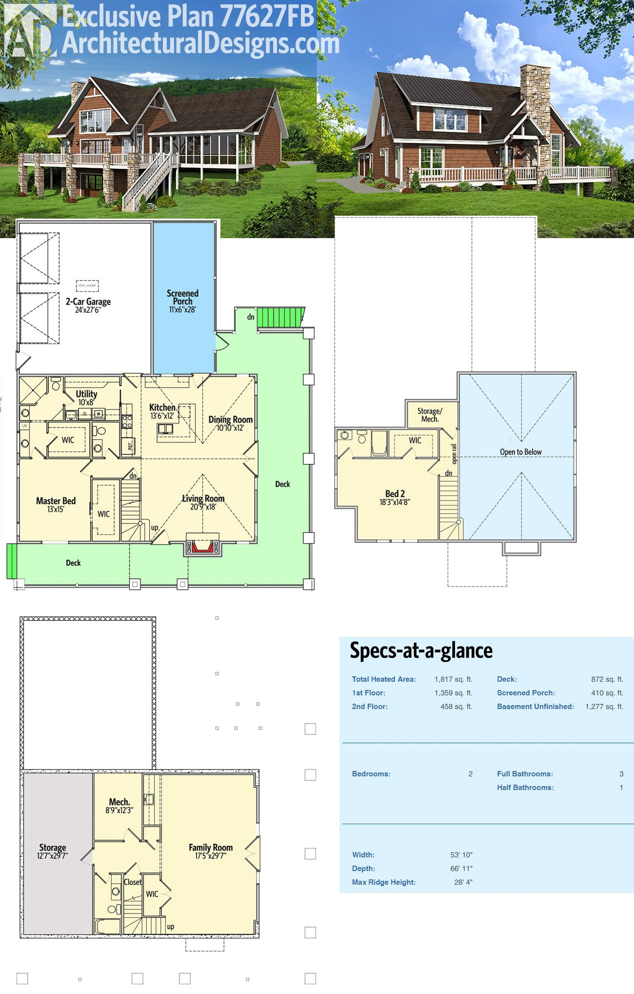 Introducing Architectural Designs Exclusive House Plan 77627FB