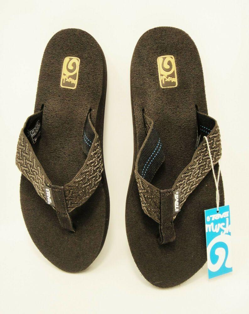 best service ae7a2 ced96 Women's Teva Mush II 2 Flip Flops Sandals Brown Size 7 NWT ...