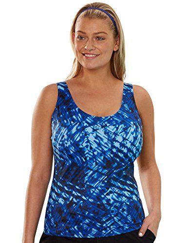 2d251f2e3a Aquabelle Womens Plus Size Chlorine Resistant Sport Top 26 Blue ** Visit  the image link more details. Note:It is affiliate link to Amazon.