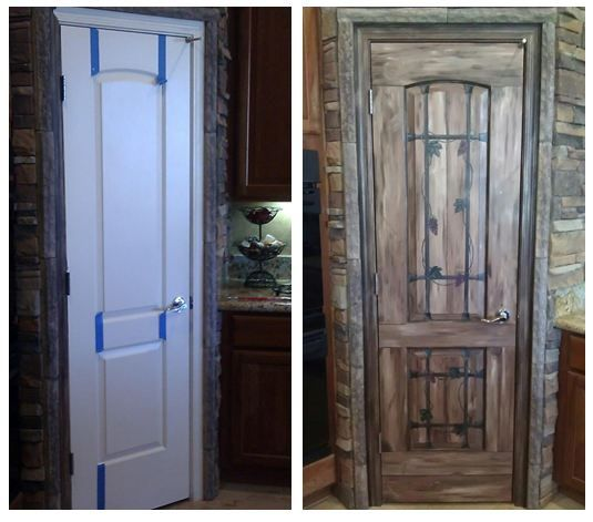 Take Your Ordinary White Pantry Door And Turn It Into A Rustic Wrought Iron  Wooden Door · Kids MuralsWall ...