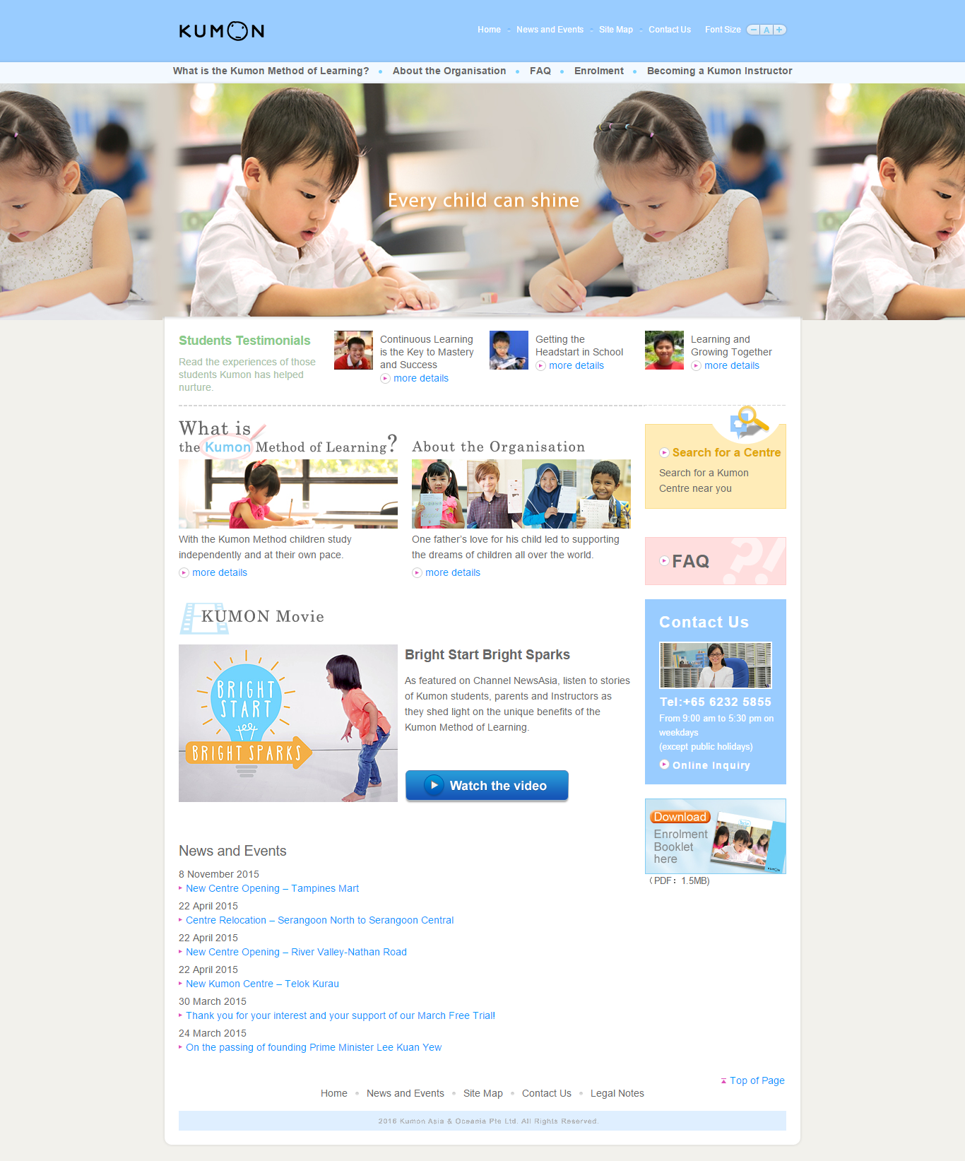 nice Website Design Samples for Tuition Agency in