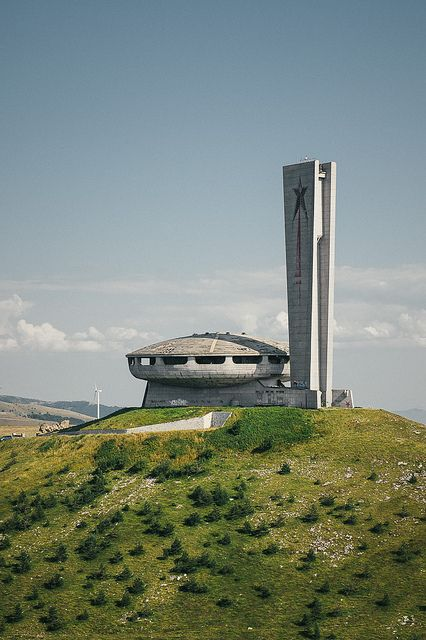 Buzludzha Monument, Bulgaria is part of architecture - See it from inside! (interactive 360°)