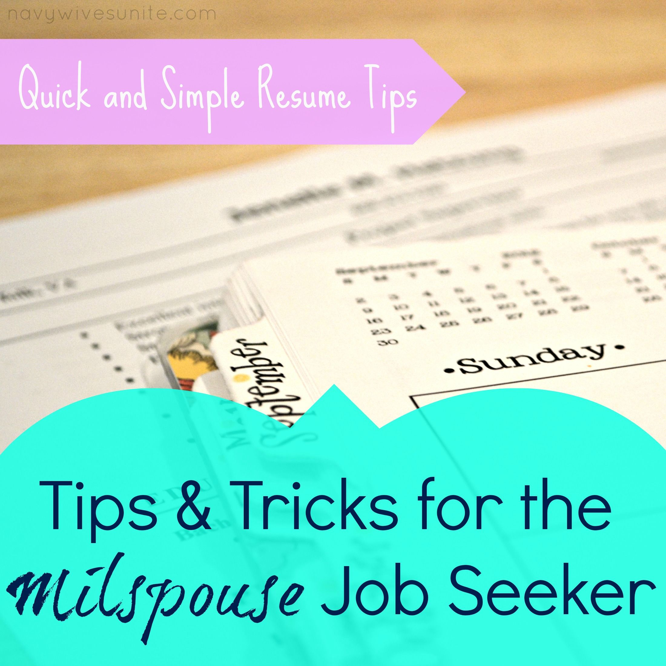Quick And Simple Resume Tips Military Spouse Businesses