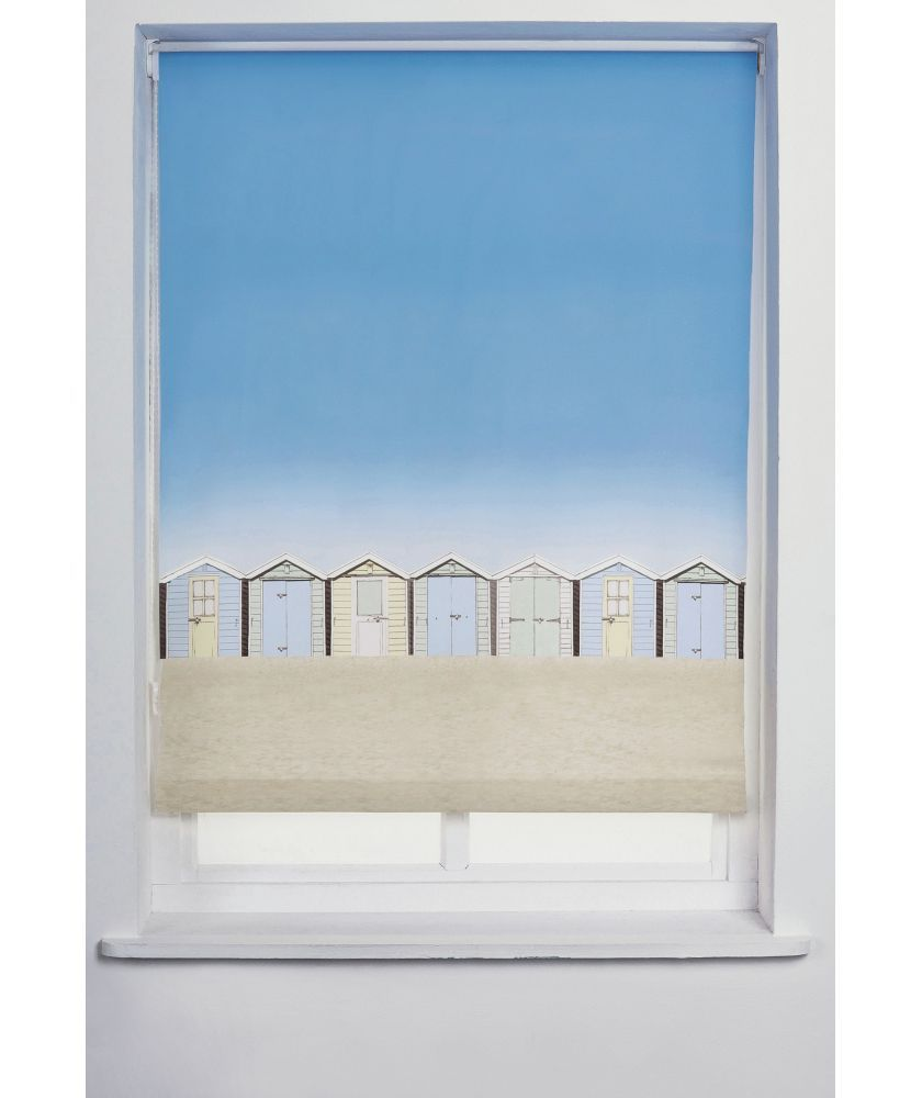 buy beach hut 3ft roller blind - multicoloured at argos.co.uk