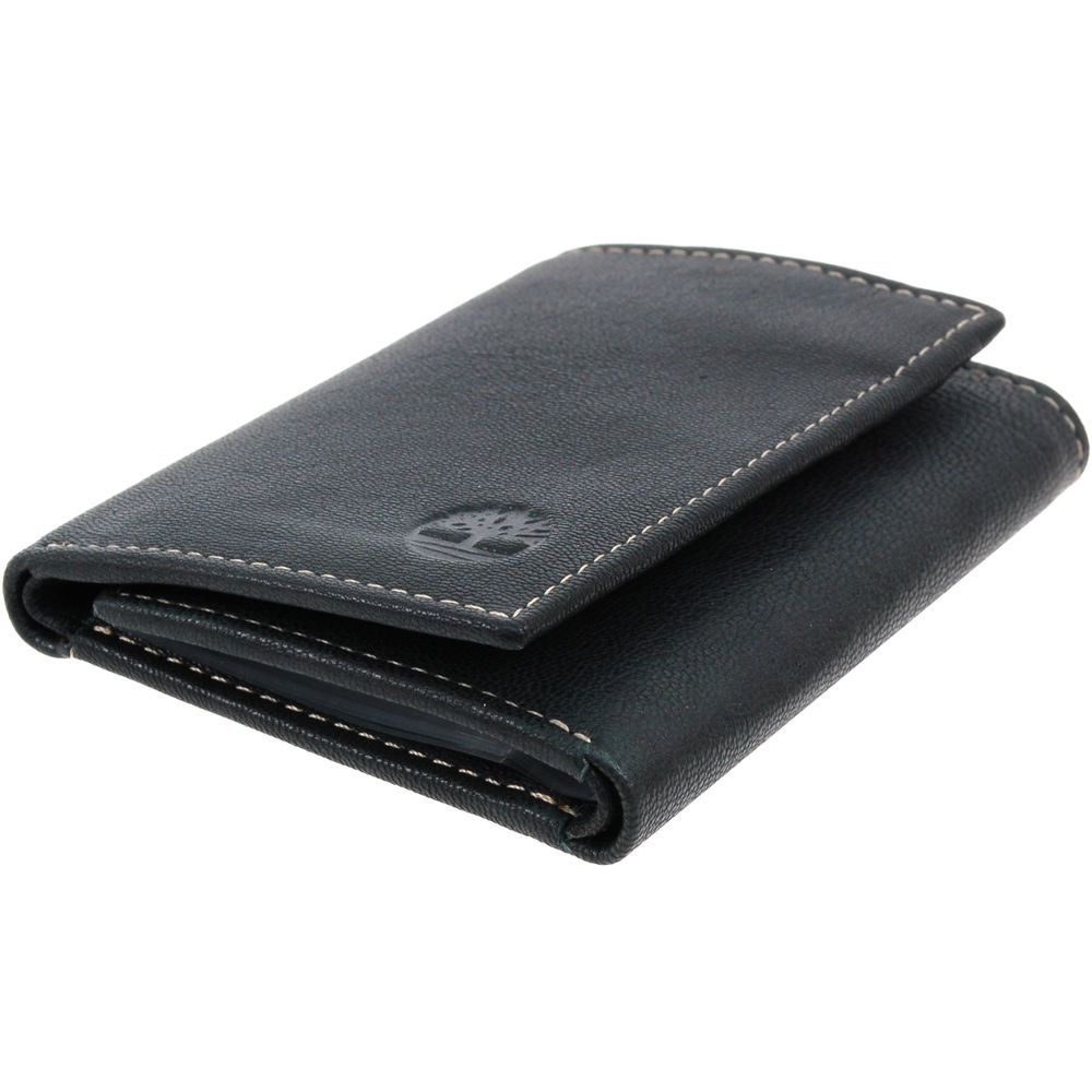 d83cb78948d9 Timberland Slim Trifold Wallet Soft Genuine Leather Tin Gift Box 6+2 Card  Slots  Timberland  Trifold