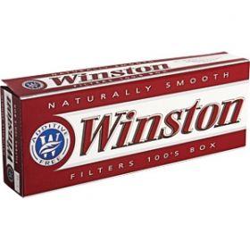 Winston Red 100's box cigarettes 10 cartonsprice140.00