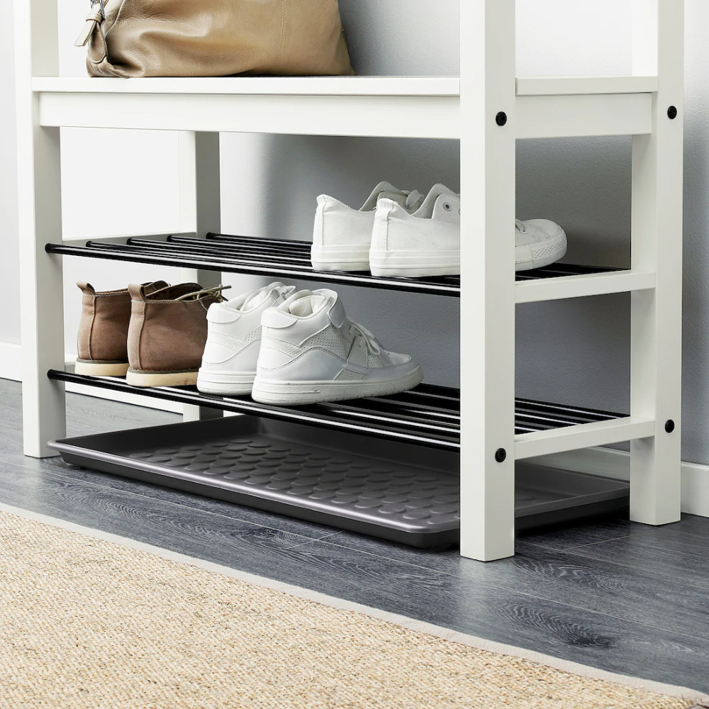 Baggmuck Shoe Tray Indoor Outdoor Gray 2 4 X1 2 In 2020 Shoe Tray Ikea Ikea Small Bedroom