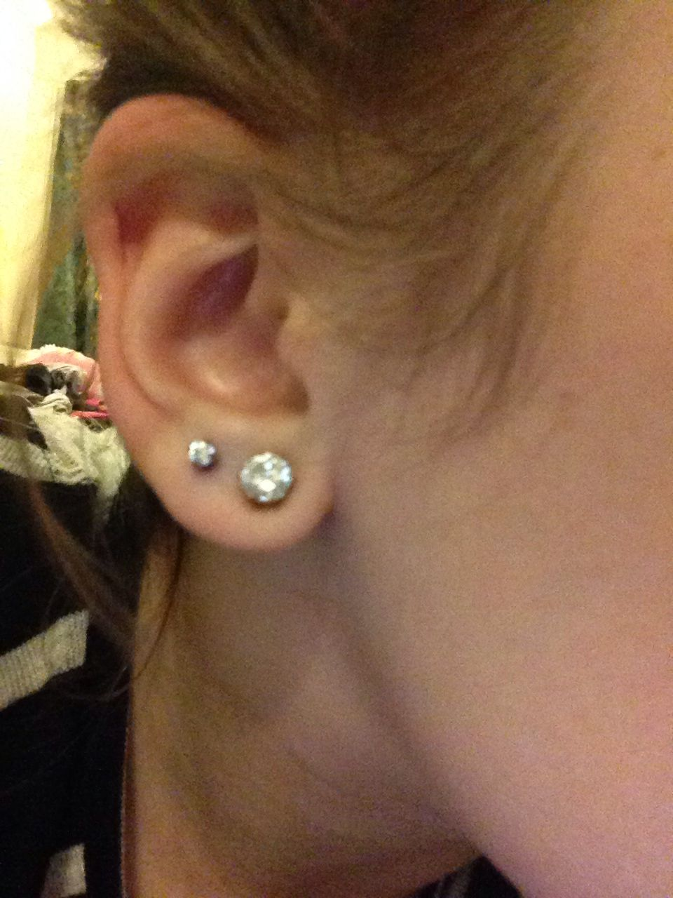 2 nose piercing  Got my second ear piercing  So cute  I kinda love things