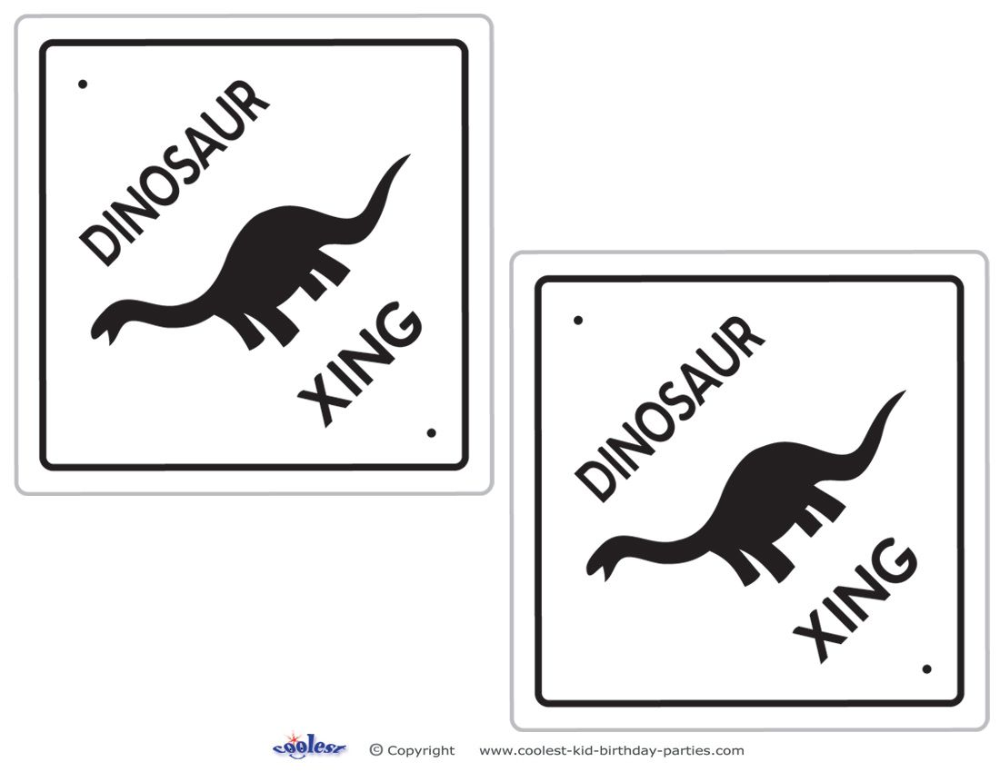 for this dinosaur crossing decoration it u0027s best if you print on