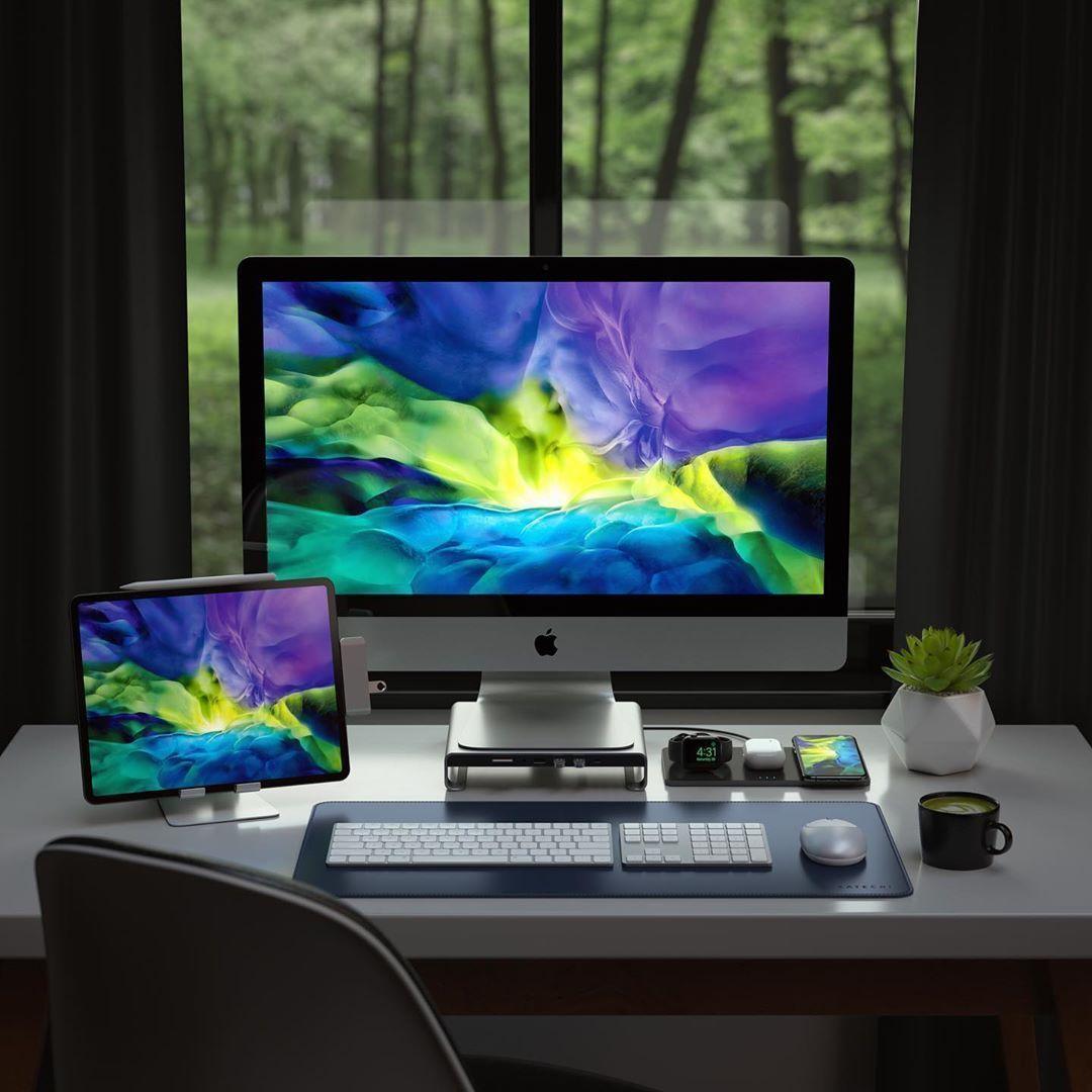 Setup iMac + iPad Pro Imac, Desk setup, Computer desk