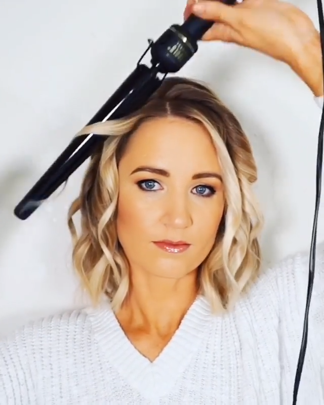 Easy Hair Tutorial For Short Bob Cut!