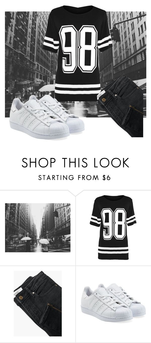 """""""Created with Kamilya"""" by alinkaaru ❤ liked on Polyvore featuring MANGO and adidas Originals"""
