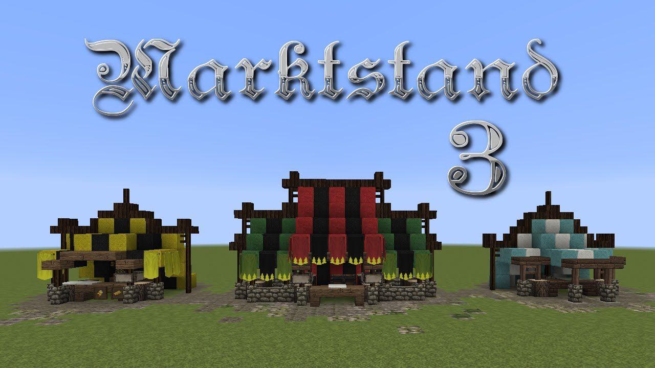 Minecraft Tutorial Marktstand Bauen Build A Market Stall 3