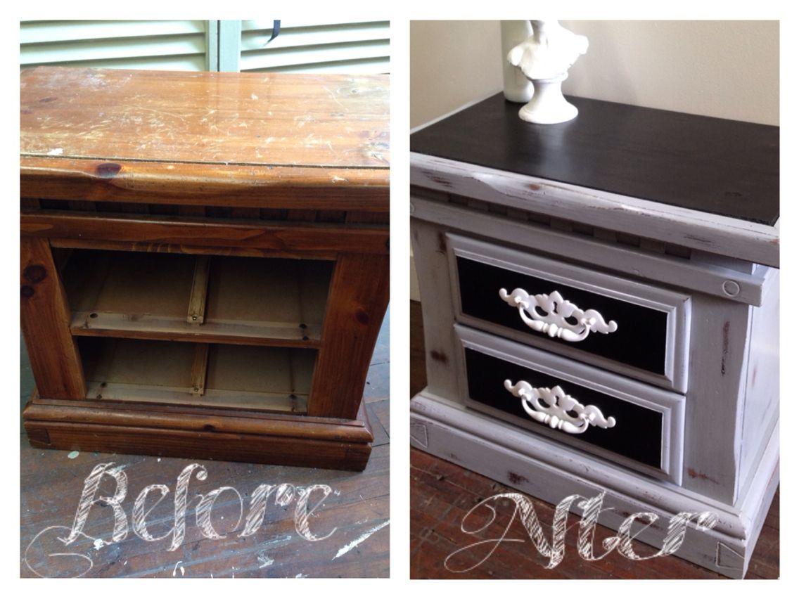 Rustic nightstand repurposed unusual fit decor pinterest