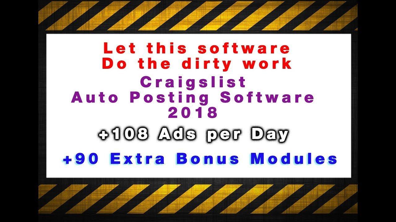 Craigslist Auto Posting Software 2018 108 Ads Per Day Autopostingtoo Ads Day Craigslist