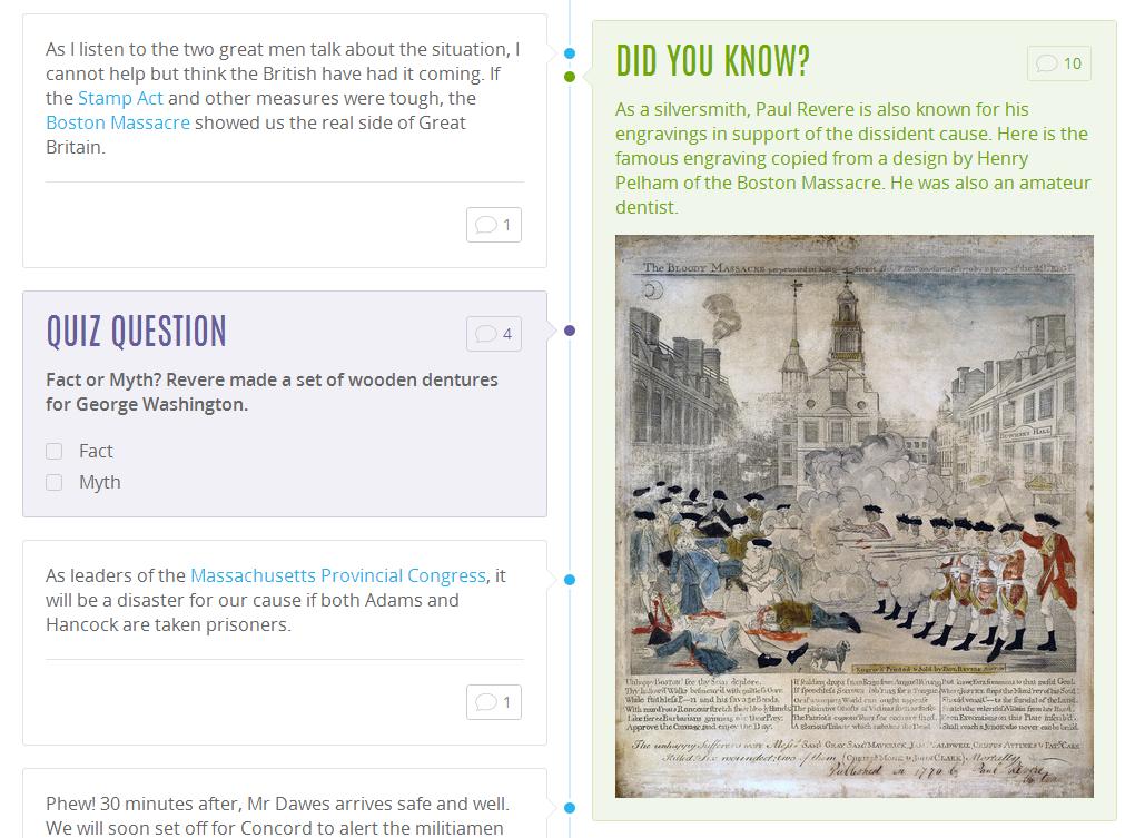 Boston History Paul Revere Timeline