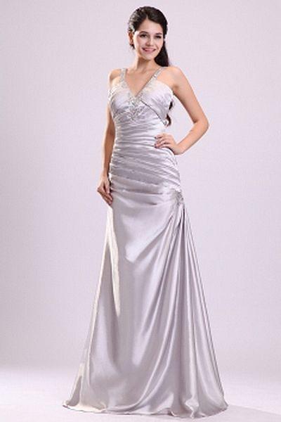 Satin Luxus-V-Neck Cocktail-Kleid ba2284 - http://www.brautmode ...