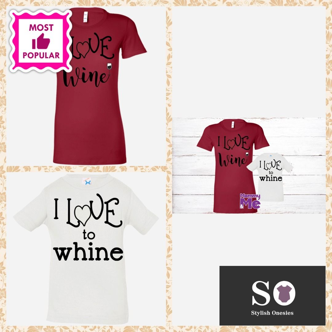 Wine Or Whine Mommy And Me Shirts Baby Onesie Babiesofig Stylishonesies Babyclothes Mommy And Me Shirt Mommy And Me Mom Shirts