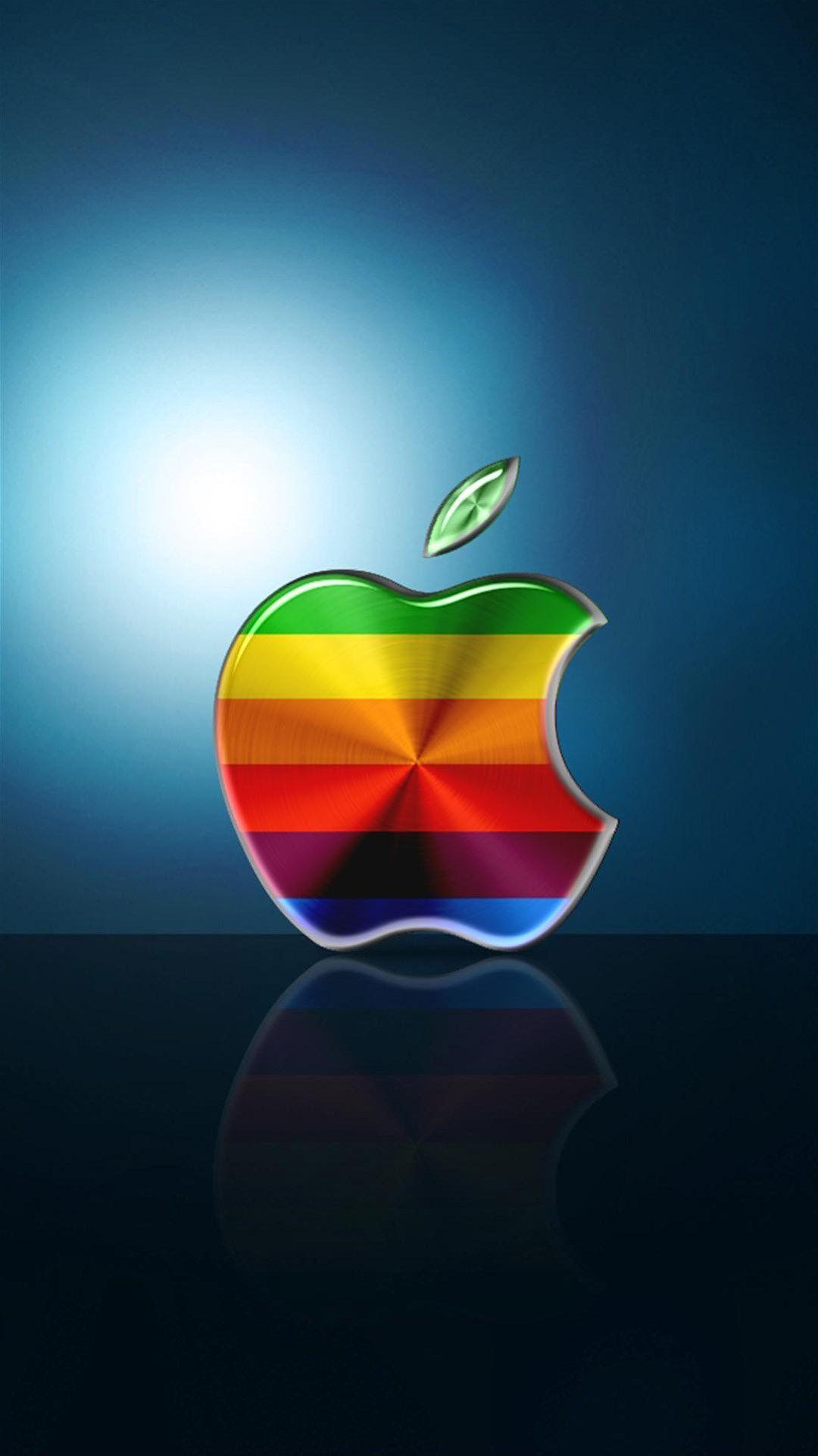 colorful apple logo background for iphone   ololoshenka   iphone
