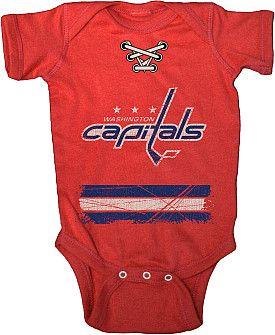 FOR MY FUTURE BABYYYY!!!!  Old Time Hockey Washington Capitals Beeler Infant Creeper T-Shirt