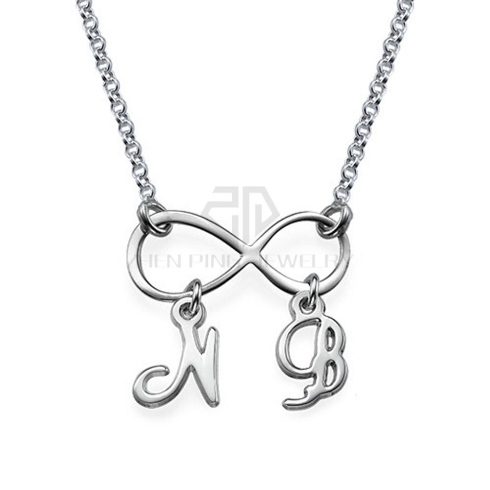 Infinity necklace with initials name necklace 316 stainless steel infinity necklace with initials name necklace 316 stainless steel pendant with the custom name biocorpaavc Choice Image