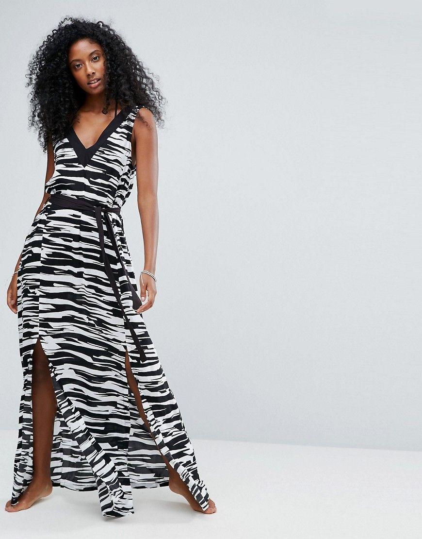 7d7cdb7d3d SEAFOLLY STEP IT UP PRINTED MAXI BEACH DRESS - BLACK. #seafolly #cloth #
