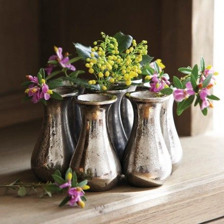 Small Silver Vases Lets Entertain Pinterest