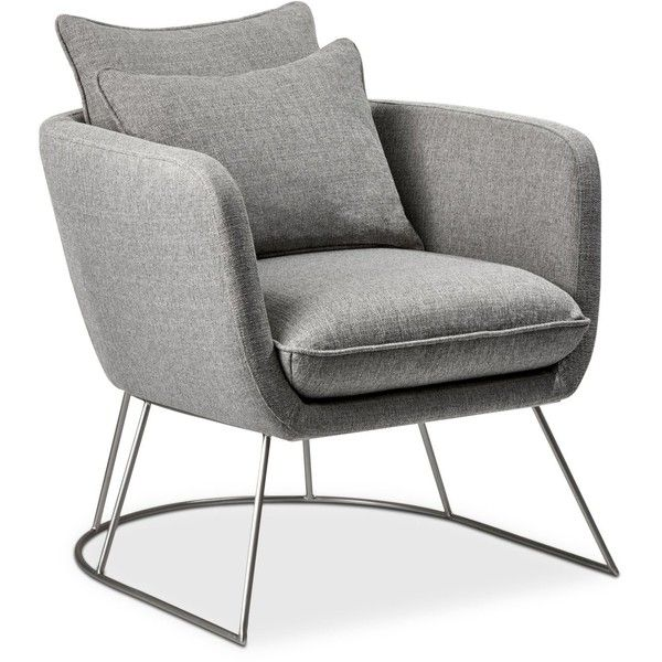Gentil Stanley Chair, Quick Ship (2,870 HKD) ❤ Liked On Polyvore Featuring Home,  Furniture, Chairs, Accent Chairs, Light Grey, Ship Chair, Light Gray Accent  Chair ...