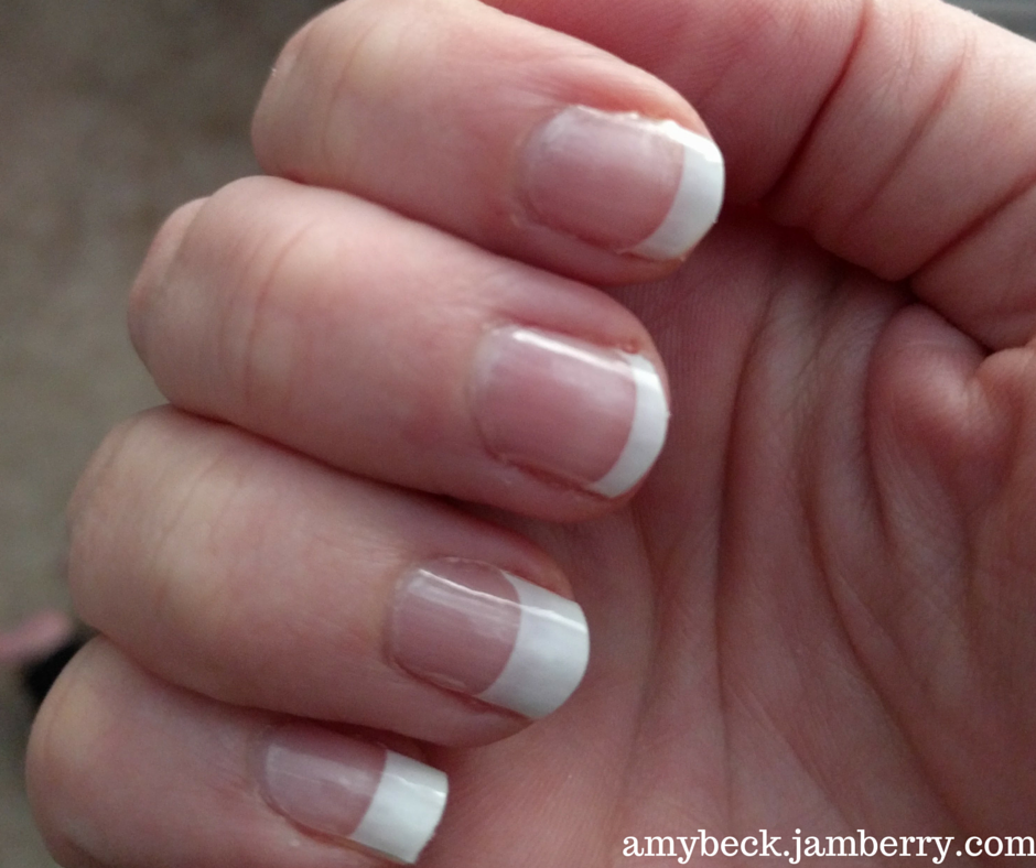 French tip, mid - Jamberry Nail Wrap | Nail Wraps on hands ...