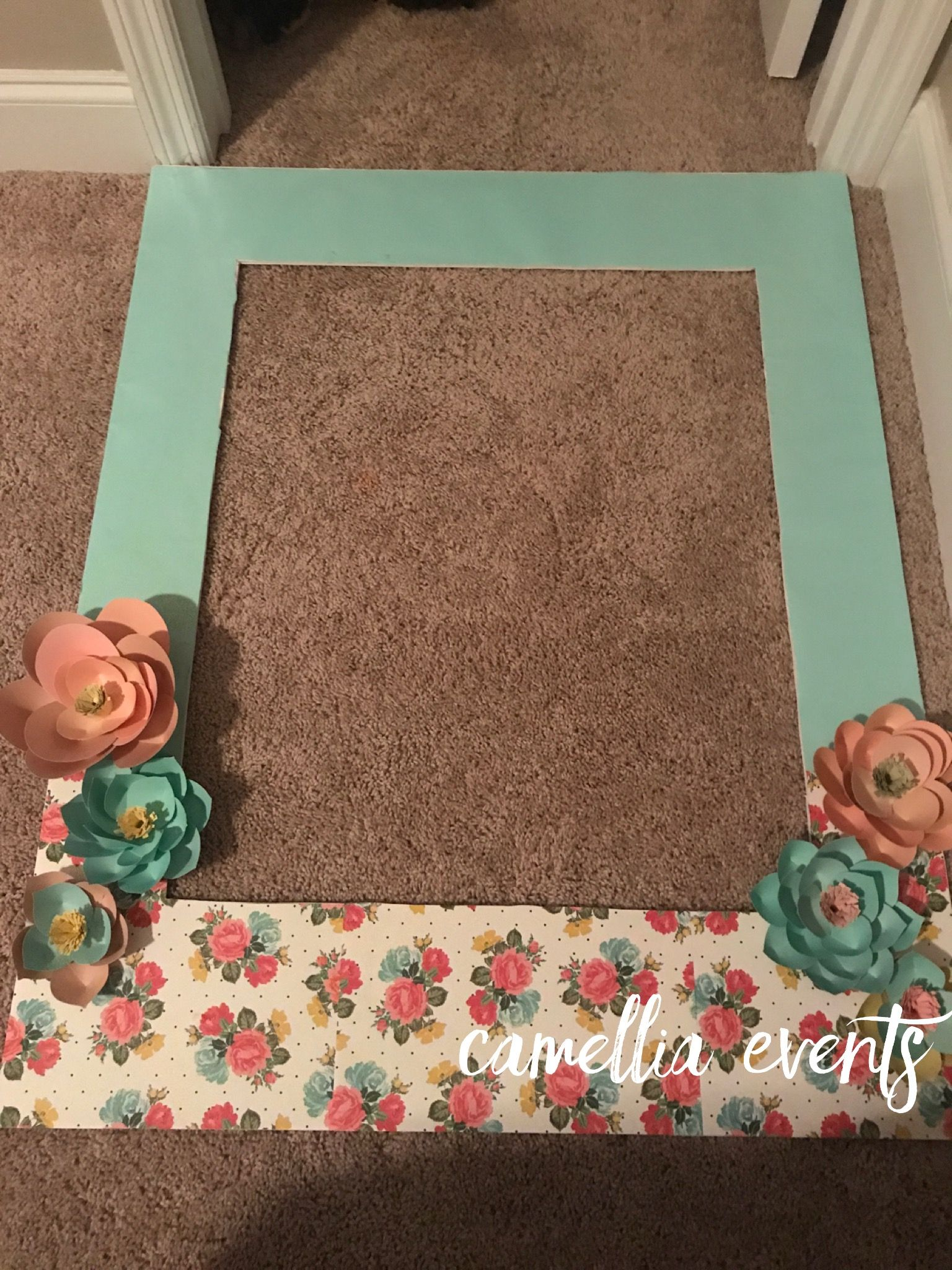 Garden decor for baby shower  Garden Theme Baby Shower  A Baby Is Blooming  Photo frame  Brius