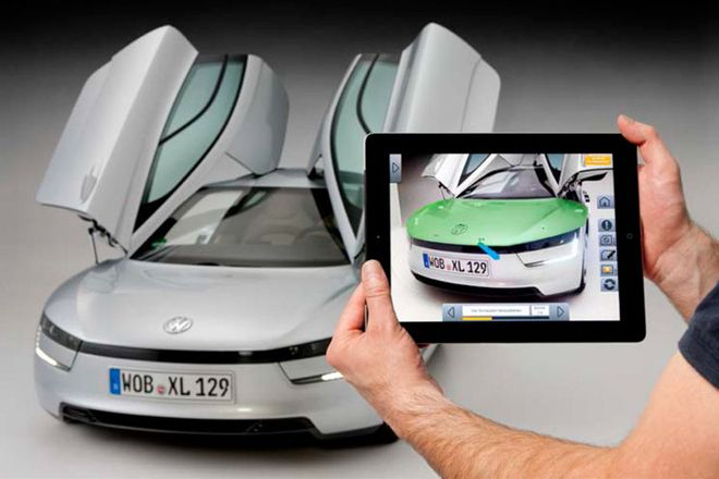 [VIDEO] Volkswagen's 261 MPG Supercar Gets an Augmented Reality iPad Repair App—provide step-by-step details on how to dismantle, repair, replace