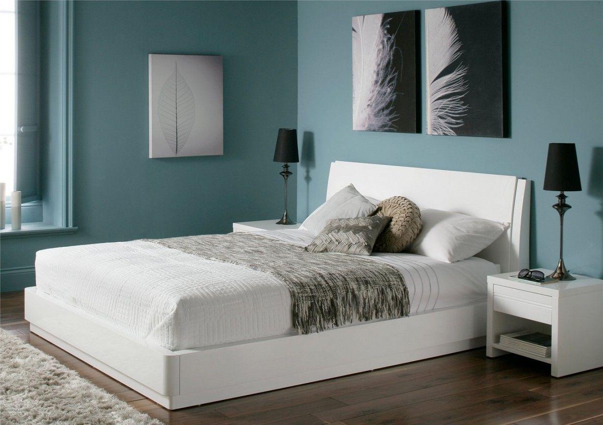 Outstanding Aden High Gloss Ottoman Storage Bed White Double Bed Short Links Chair Design For Home Short Linksinfo