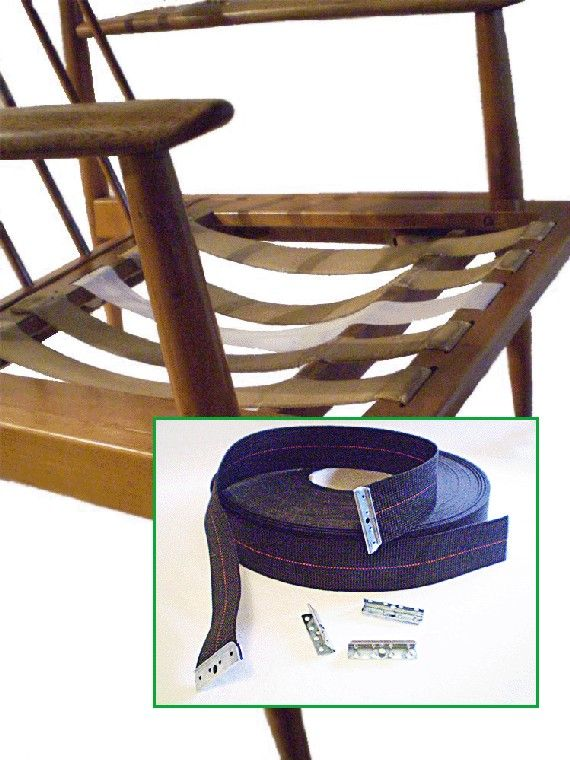 diy danish modern chair wicker rattan furniture stretch webbing