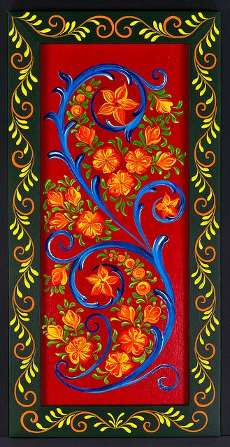 The World S Most Recently Posted Photos Of Hindeloopen And Netherlands Flickr Hive Mind Folk Art Flowers Folk Art Painting Decorative Painting