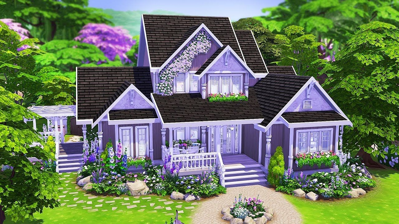 Perfect Traditional Family Home The Sims 4 Speed Build Sims House Design Sims 4 House Design Sims 4 Family House