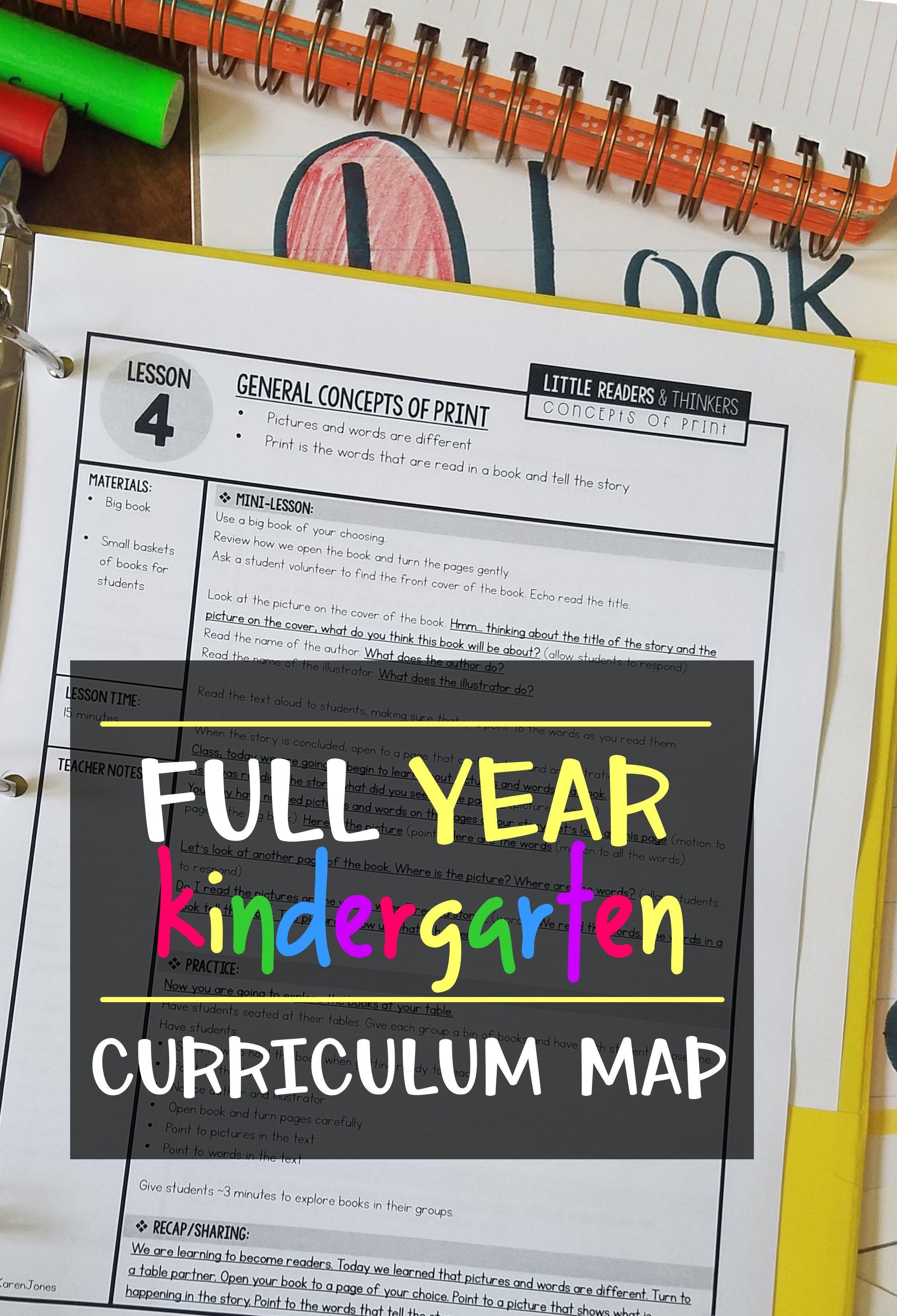 Free Kindergarten Curriculum Guide