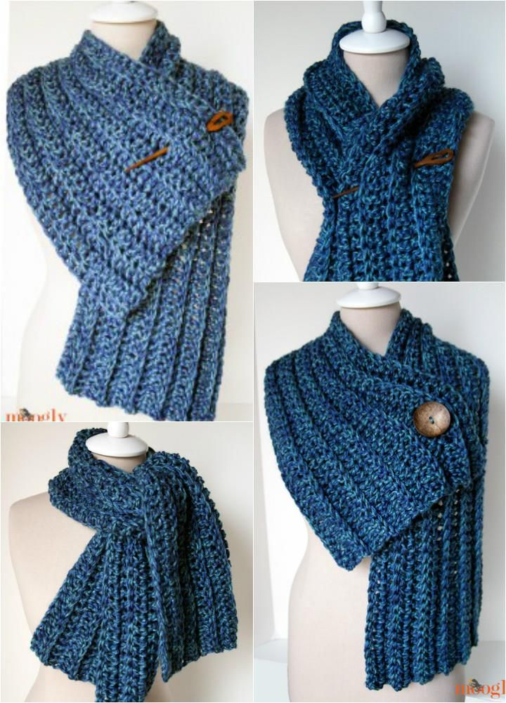 10 Super Chunky Free Crochet Cowl Scarf Patterns Cowl Scarf Scarf